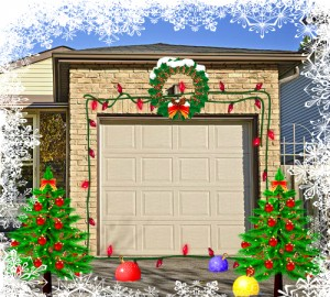Decorated Garage Door
